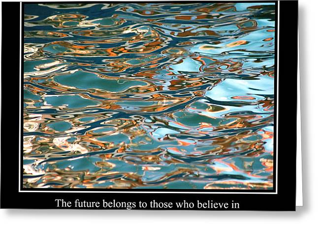 Famous Fish Abstract Greeting Cards - Abstract Water Reflection 18 Greeting Card by Andrew Hewett