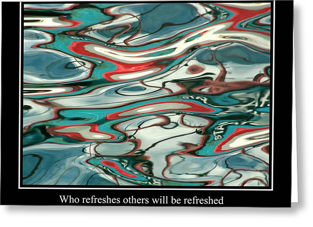 Famous Fish Abstract Greeting Cards - Abstract Water Reflection 3 Greeting Card by Andrew Hewett