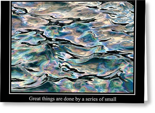 Famous Fish Abstract Greeting Cards - Abstract Water Reflection 33 Greeting Card by Andrew Hewett