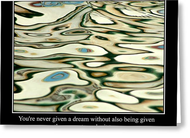 Famous Fish Abstract Greeting Cards - Abstract Water Reflection 39 Greeting Card by Andrew Hewett