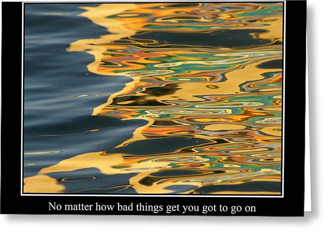 Famous Fish Abstract Greeting Cards - Abstract Water Reflection 44 Greeting Card by Andrew Hewett