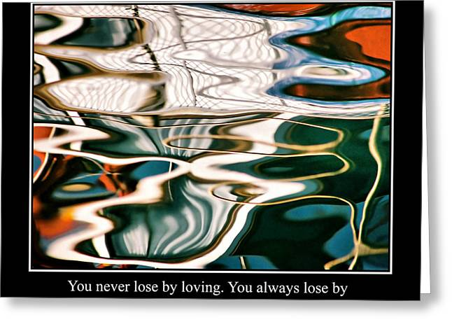 Famous Fish Abstract Greeting Cards - Abstract Water Reflection 47 Greeting Card by Andrew Hewett
