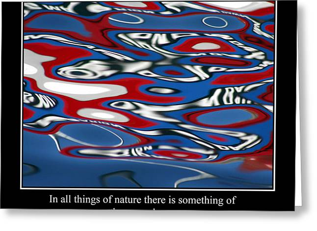 Famous Fish Abstract Greeting Cards - Abstract Water Reflection 50 Greeting Card by Andrew Hewett