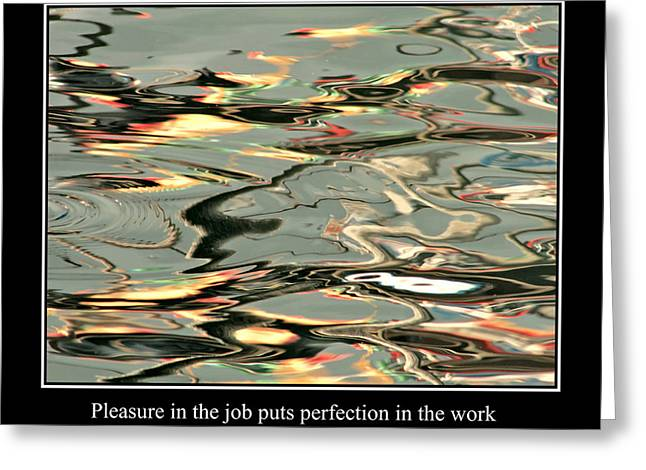 Famous Fish Abstract Greeting Cards - Abstract Water Reflection 51 Greeting Card by Andrew Hewett