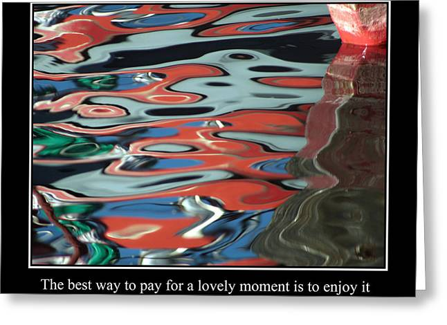 Famous Fish Abstract Greeting Cards - Abstract Water Reflection 67 Greeting Card by Andrew Hewett