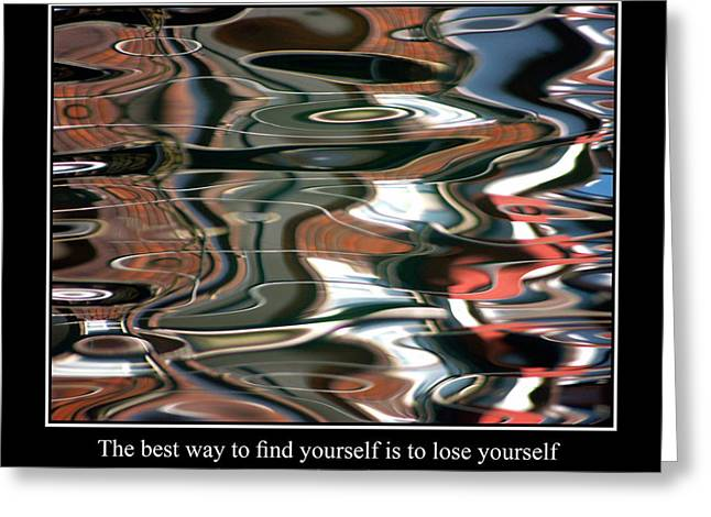 Famous Fish Abstract Greeting Cards - Abstract Water Reflection 86 Greeting Card by Andrew Hewett
