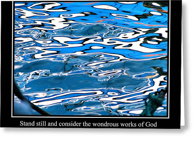 Famous Fish Abstract Greeting Cards - Abstract Water Reflection 9 Greeting Card by Andrew Hewett