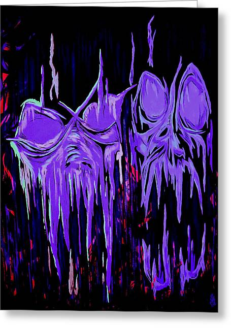 Hallucination Greeting Cards - Abstraction of Malicious Intent Greeting Card by Steve Hartwell