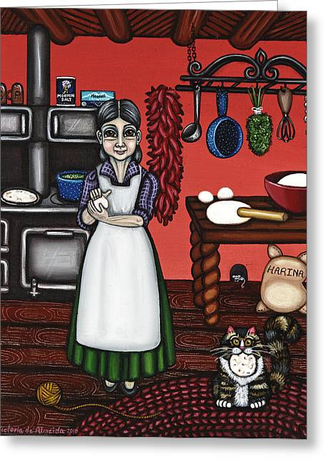Country Kitchen Greeting Cards - Abuelita or Grandma Greeting Card by Victoria De Almeida