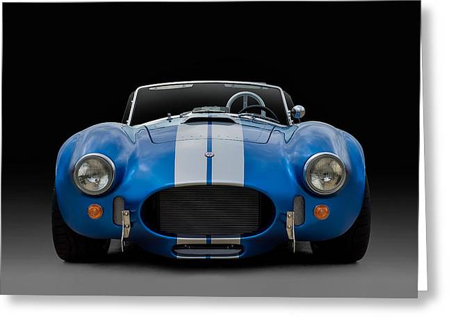 Blue Car. Greeting Cards - AC Cobra Greeting Card by Douglas Pittman
