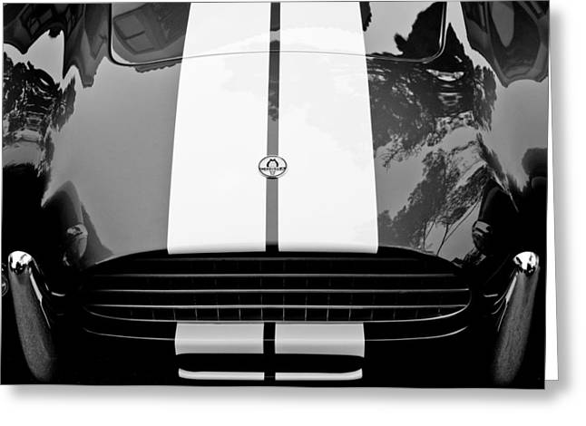 Ac Greeting Cards - AC Shelby Cobra Grille - Hood Emblem Greeting Card by Jill Reger