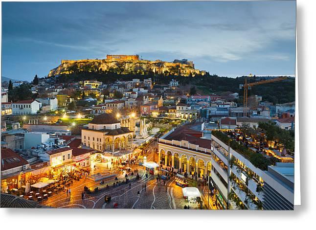 Acropolis Greeting Card by Milan Gonda
