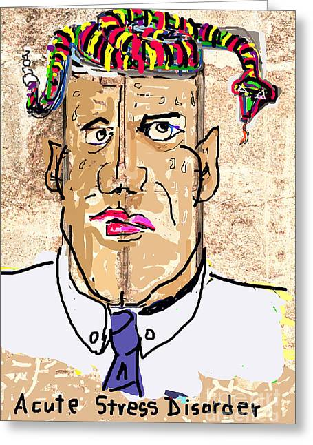 Psychiatric Greeting Cards - Acute Stress Disorder Greeting Card by Joe Jake Pratt