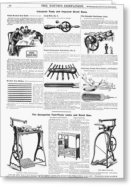 Ad Tools, 1890 Greeting Card by Granger