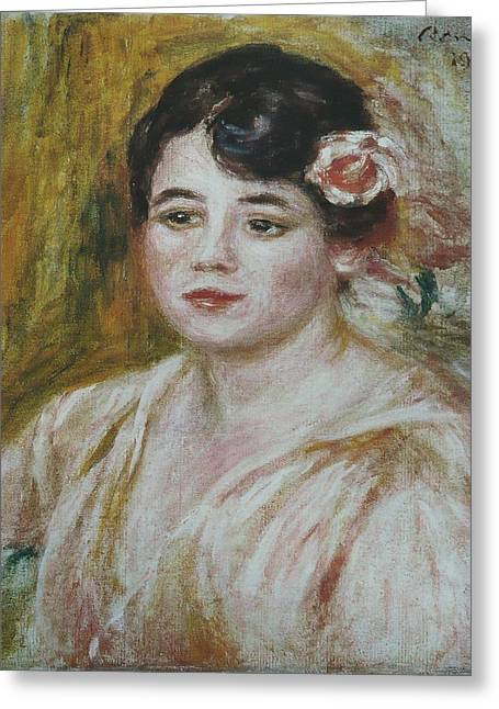 Adele Paintings Greeting Cards - Adele Besson Greeting Card by Celestial Images