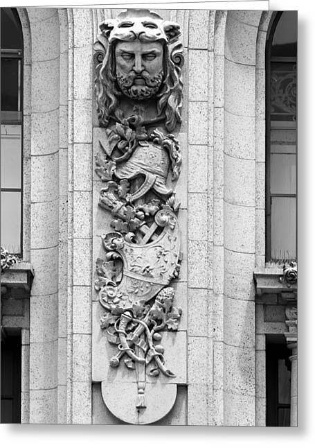 Reliefs Reliefs Greeting Cards - Adolphus Hotel Architectural Detail - Dallas Texas Greeting Card by Mountain Dreams