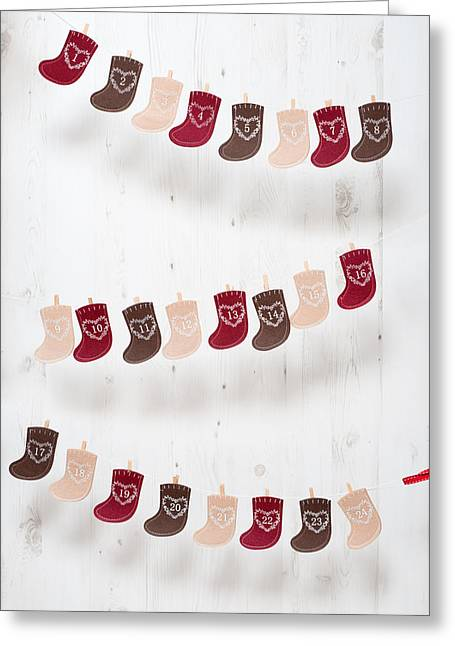 Advent Greeting Cards - Advent Calendar Greeting Card by Amanda And Christopher Elwell