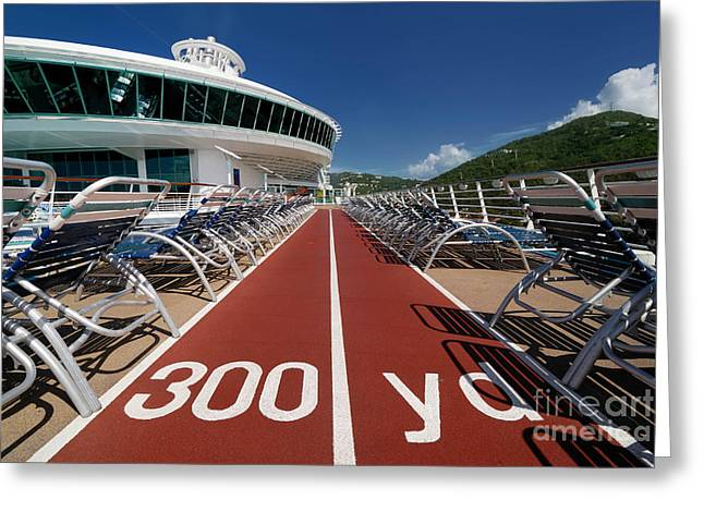 Adventure Of The Seas Greeting Cards - Adventure of the Seas Jogging Track Greeting Card by Amy Cicconi