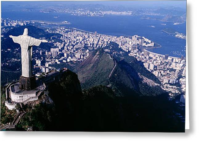 From Above Greeting Cards - Aerial, Rio De Janeiro, Brazil Greeting Card by Panoramic Images