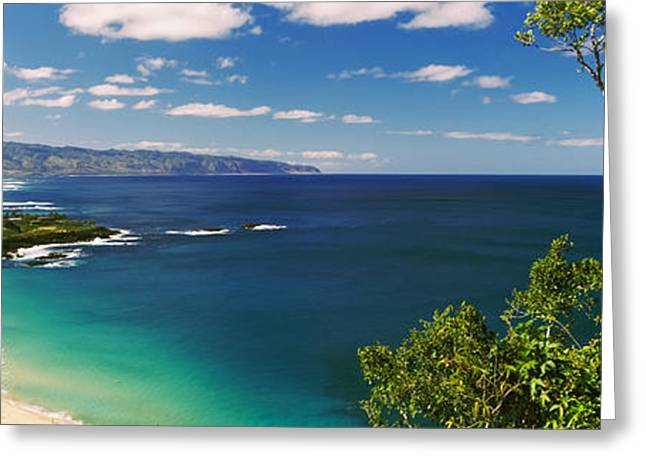 Ocean Photography Greeting Cards - Aerial View Of A Beach, North Shore Greeting Card by Panoramic Images