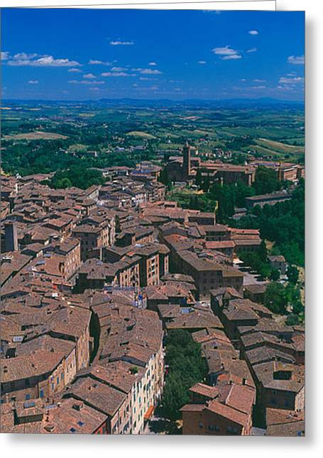 Florence Greeting Cards - Aerial View Of Buildings In A City Greeting Card by Panoramic Images