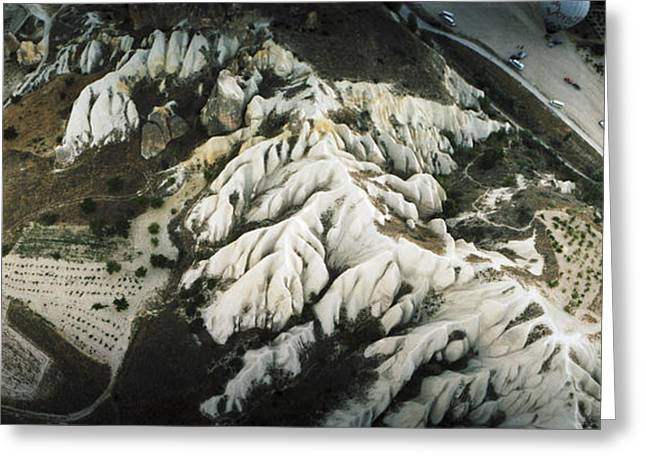 Anatolia Greeting Cards - Aerial View Of Rock Formations Greeting Card by Panoramic Images
