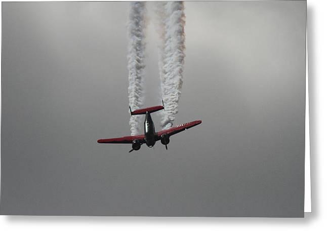 Multi-engine Greeting Cards - Aerobatics 2 Greeting Card by Maxwell Amaro