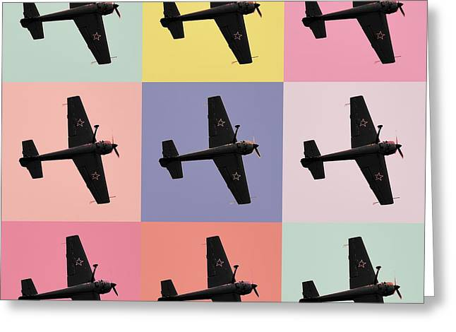 National Mixed Media Greeting Cards - Aerobatics plane Greeting Card by Toppart Sweden