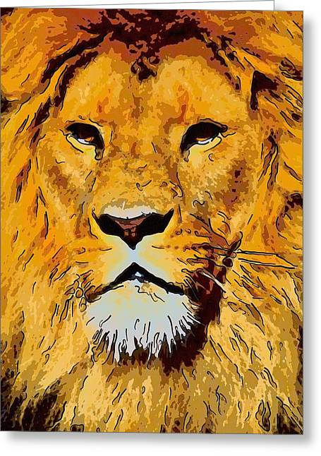 Lioness Greeting Cards - African Lion Greeting Card by Toppart Sweden