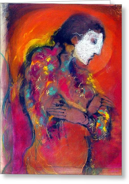 Pensive Pastels Greeting Cards - After The Dance Greeting Card by Josie Taglienti