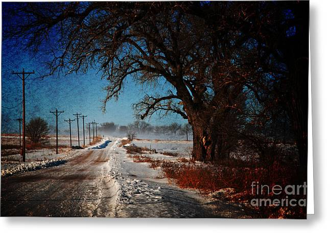 Snow Drifts Digital Art Greeting Cards - After The Snow Storm Greeting Card by Robert Carner