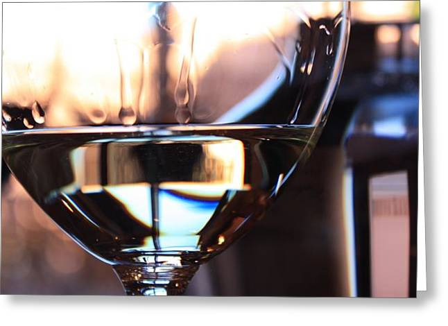 Wine Reflection Art Photographs Greeting Cards - Afternoon Glow 8 Greeting Card by Penelope Moore