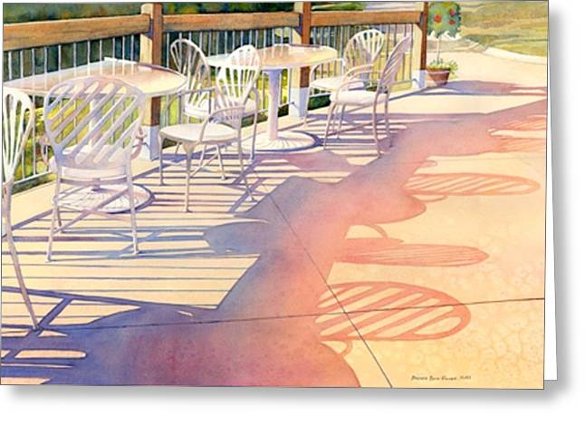 Afternoon Shadows At Les Bourgeois Greeting Card by Brenda Beck Fisher
