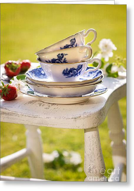Flower Blossom Greeting Cards - Afternoon Tea Greeting Card by Amanda And Christopher Elwell