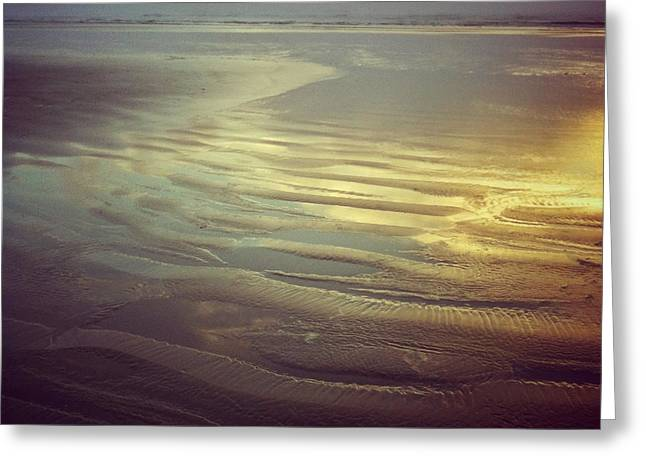 Agate Beach Greeting Cards - Agate Beach Sunset Greeting Card by Andrea Gingerich
