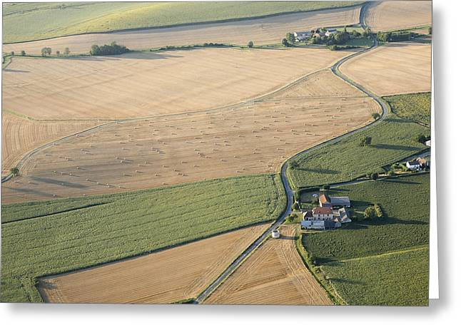 Agronomy Greeting Cards - Agricultural Landscape Of The Vienne Greeting Card by Laurent Salomon