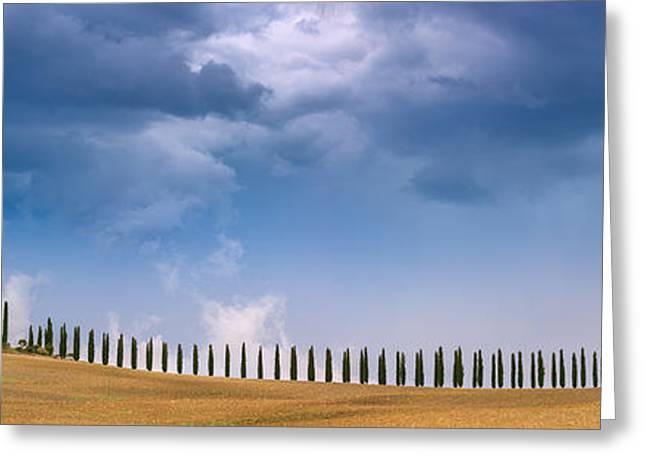 Dark Skies Greeting Cards - Agriturismo Poggio Covili - Tuscany - Italy Greeting Card by Henk Meijer Photography