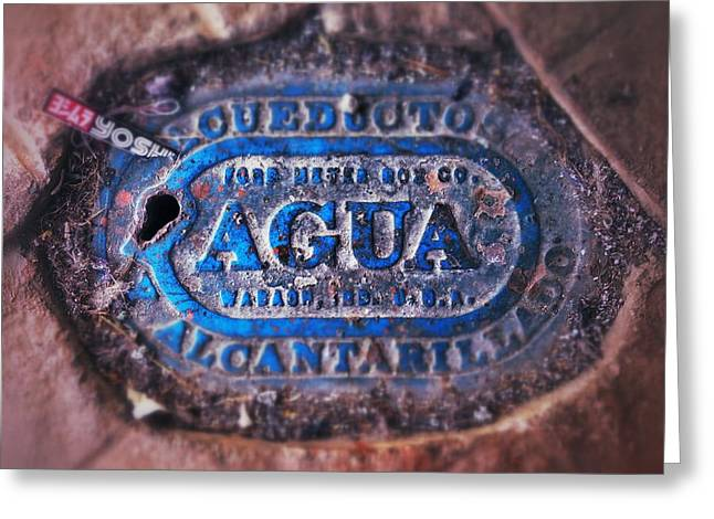 Costa Digital Greeting Cards - Agua Greeting Card by Olivier Calas