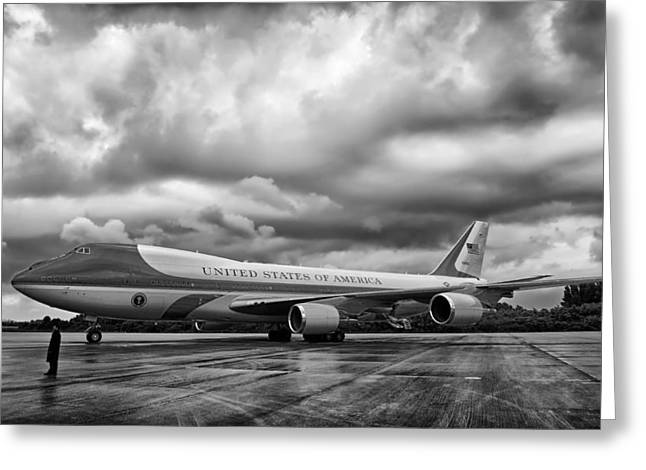 Air Force One Greeting Cards - Air Force One Greeting Card by Mountain Dreams