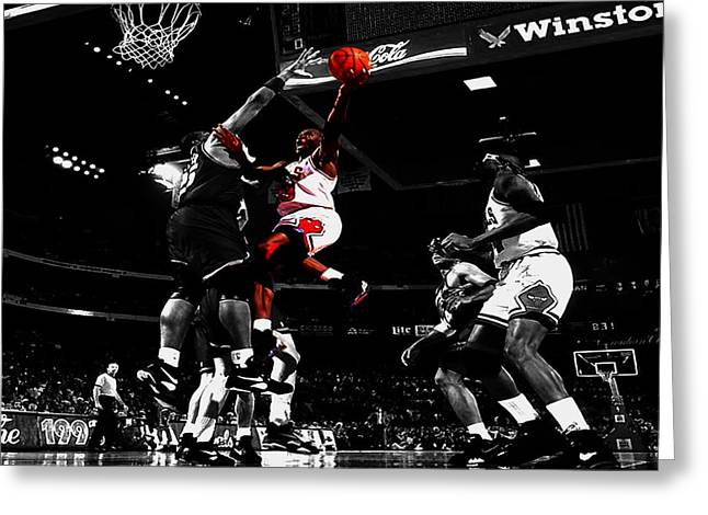 Charles Barkley Greeting Cards - Air Jordan  Greeting Card by Brian Reaves