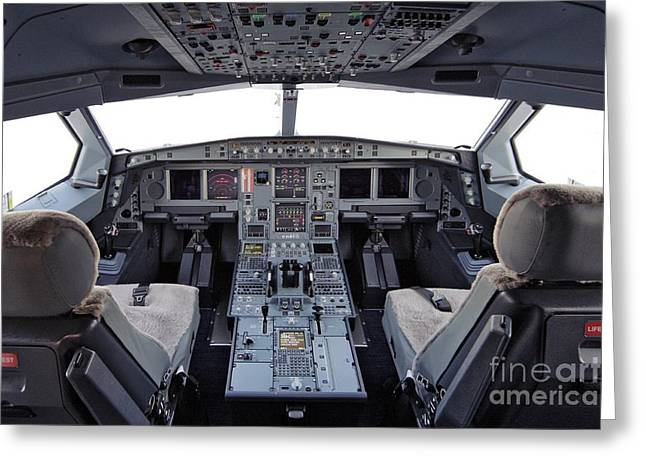 Airbus Greeting Cards - Airbus A330 Cockpit Greeting Card by RIA Novosti