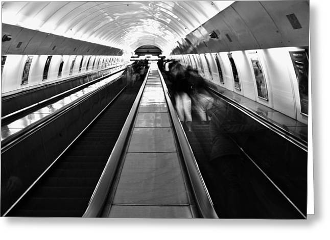 Airport Terminal Greeting Cards - Airport People Mover Greeting Card by Mountain Dreams