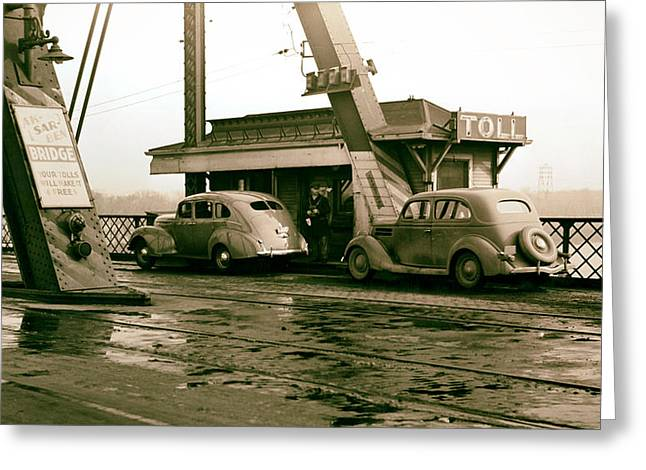 Ak Greeting Cards - Ak-Sar-Ben Toll Bridge 1938 Greeting Card by Mountain Dreams
