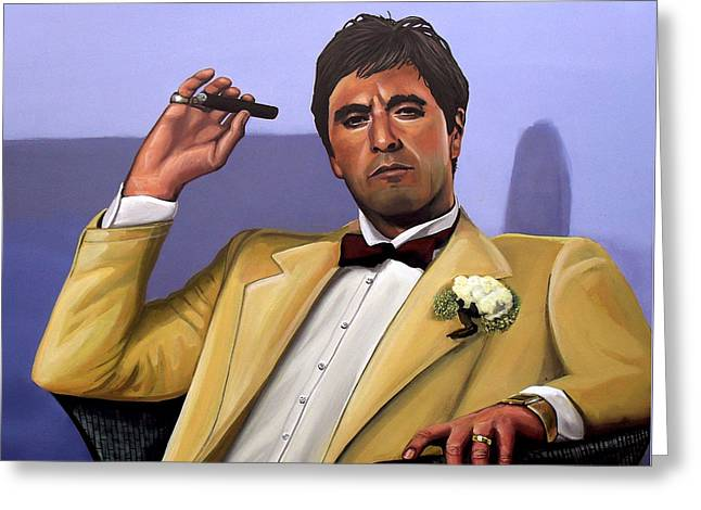 Scented Greeting Cards - Al Pacino Greeting Card by Paul  Meijering
