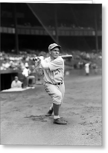 Baseball Bat Greeting Cards - Al Reiss Greeting Card by Retro Images Archive