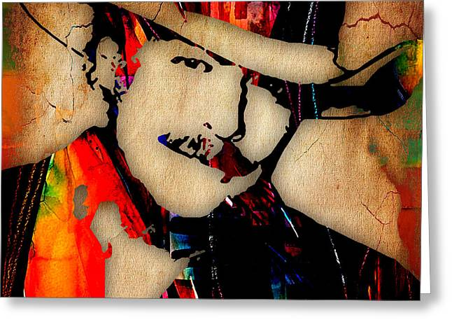 Alan Jackson Collection Greeting Card by Marvin Blaine
