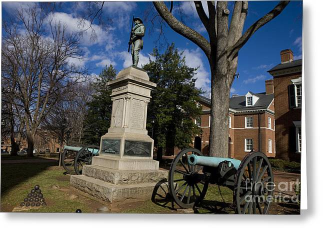 Confederate Monument Greeting Cards - Albemarle County Court House Greeting Card by Jason O Watson