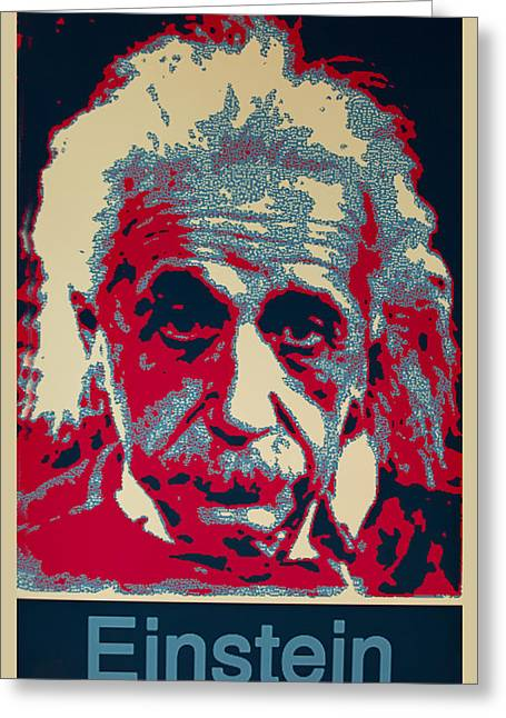 Physicist Greeting Cards - Albert Einstein Greeting Card by Unknown