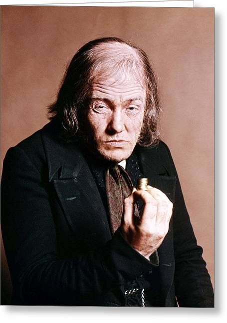 Musical Film Greeting Cards - Albert Finney in Scrooge  Greeting Card by Silver Screen