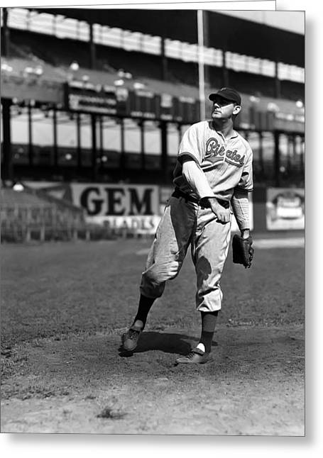 Pittsburgh Pirates Greeting Cards - Albert M. Max Butcher Greeting Card by Retro Images Archive